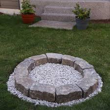 stamped concrete patio with fire pit new diy backyard fire pit build it in just 7
