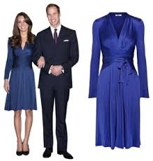 Well, you can at least try, anyway: Issa London Blue Wrap Royal Engagement Kate Middleton Knee Length Work Office Dress Size 6 S Tradesy