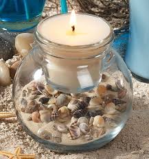 sea shells crafts ideas | seashell/candle | Craft Ideas | crafts |  Pinterest | Seashell candles, Shell and Craft