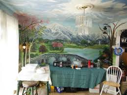 Kitchen Mural Hand Made Kitchen Dining Room Mural Floor To Ceiling By Murals By