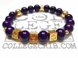 omega psi phi beaded bracelet