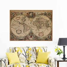 Old Nautical Charts For Sale Vintage Nautical Retro Paper World Map Poster Wall Chart Home Decoration Wall Sticker Decals Globe Old World Home Decoration