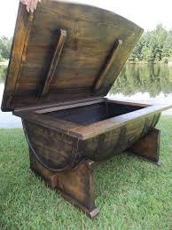 custom made whiskey bourbon barrel coffee table