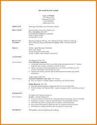 How To Write A Cv For An Internship Internship Cv Sample Pdf Brave100818 Com Stunning For Free Resume