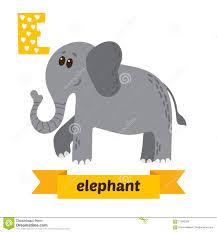 e letter cute children alphabet in vector fun