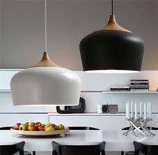 Modern Aluminum Oak Wood Pendant Light Lustres Black Pendant Lamp Kitchen  Light Restaurant Hanging Lamp Light