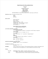 40 College Resume Examples Templates Best Resume For College Application