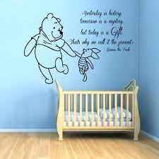 winnie the pooh wall art the pooh wall decals piglet es intended for the pooh winnie the pooh wall art