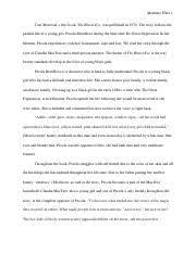 the bluest eye essay toni morrisons novel the bluest eye touches  4 pages the bluest eye rough draft