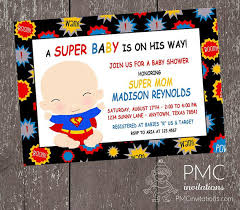 Superhero Baby Shower Invitations 100 Each By PaperMonkeyCompany Superhero Baby Shower Invitation