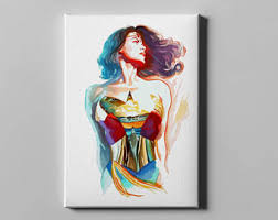wonder woman print wonder woman poster wall art home decor
