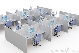 office cubicle clipart. Simple Clipart 3d Office Cubicles Stock Vector  Image 50615425 For Cubicle Clipart I