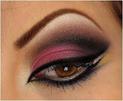 beautiful eye makeup pics hot pink smokey eyes