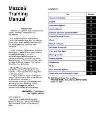 Mazda 6 2003-2007 Training Manual | Motor Oil | Piston