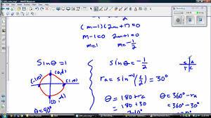 solving trigonometric equation using cast rule