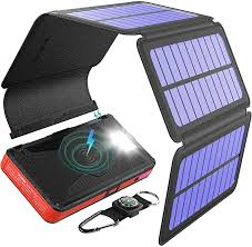 BLAVOR <b>Power</b> Bank, Wireless External Battery, 20000mAh <b>Solar</b> ...