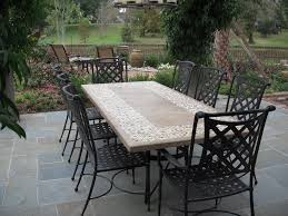 stone top outdoor dining table inspiring idea inside design 1 within decorations 2