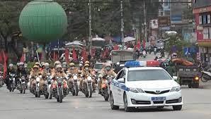 Cảnh sát giao thông Công an tỉnh ra quân bảo đảm trật tự an toàn giao thông