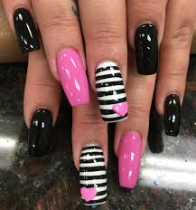 Black and Pink Nail Designs | Design Trends - Premium PSD, Vector ...