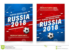 soccer team brochure template sport event flyer template russia 2018 soccer cup background