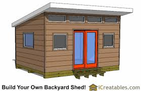 shed office plans. 12x16 modern shed plans front view office a