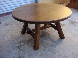 antique round coffee table retro