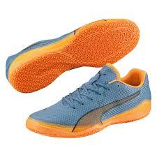 puma indoor soccer shoes. puma invicto fresh indoor soccer shoes (blue heaven/orange pop/blue wing teal o