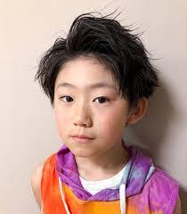 クラスでも評判男の子の髪型は2ブロックヘアアレンジ