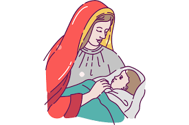 Dxf, eps, png, and svg. Mary With Baby Jesus Clip Art Free Christmas Hq