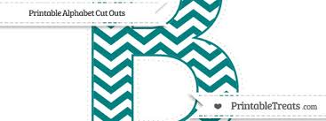 Printable Chevron Letters Free Teal Chevron Extra Large Capital Letter B Cut Outs