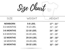 0 3 Months Size Chart Size Chart