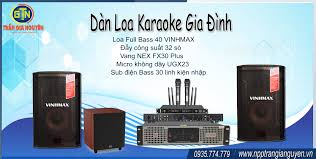 Dàn loa Karaoke gia đình (Loa Full-đẩy-vang-micro-sub) - NHÀ PHÂN PHỐI TRẦN  GIA NGUYÊN