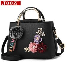 jooz 2018 color flowers shell women s tote leather clutch bag