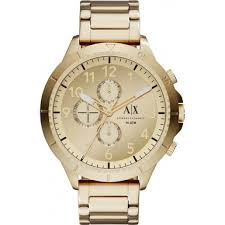 ax1752 sport armani exchange mens watch watches2u armani exchange ax1752 mens gold plated bracelet chronograph sports watch