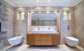 Innenansicht Schöne Luxus Badezimmer Lizenzfreie Fotos Bilder Und