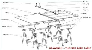 build a ping pong table picture of assembling table build outdoor ping pong table top