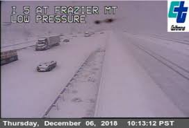 Grapevine Snow Closes Southern California Freeway