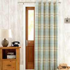 curtain for doorway highland check duck egg lined eyelet door curtain  thermal door curtain amazon