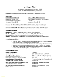 Accounting Resume With No Experience Entry Level Accountant Resume