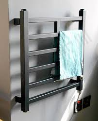 Thermostatic Electric Towel Rail | Black Lineo 500h x 500w mm