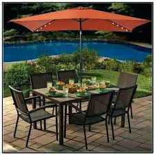 11 ft patio umbrella with solar lights aluminum cantilever led offset in putty tan lighted umbrellas