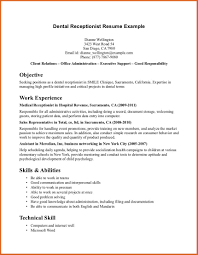 Objective For Receptionist Resume Free Resume Example And