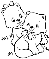 Small Picture Happy Cats Coloring Page 3 7583