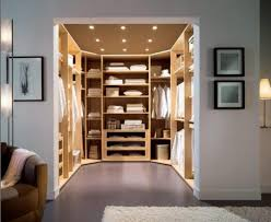 Space saving walk-in closet design, modern bedroom ideas