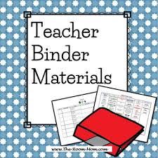 Teacher Binder Templates Teacher Binder Materials Logs Class News Curriculum Templates