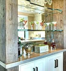 bar glass shelves mirror backed porthole floating suppliers