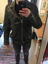 all saints goat leather jacket