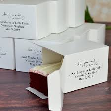 wedding favour cakes. Personalized Cake Slice Favor Boxes