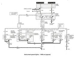 ford ranger bronco ii electrical diagrams at the ranger station instrument panel lights 1990 on