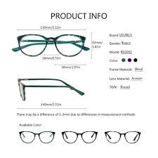 Designer Brands Sasamia Round Glasses Women Circle Eyeglasses Frame Vintage Female Glasses Fake Designer Brands Eye Glasses Frames For Women